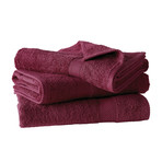 Helene Bath Linen Set // Beet Red (Set of 6 // Bath Mitts)