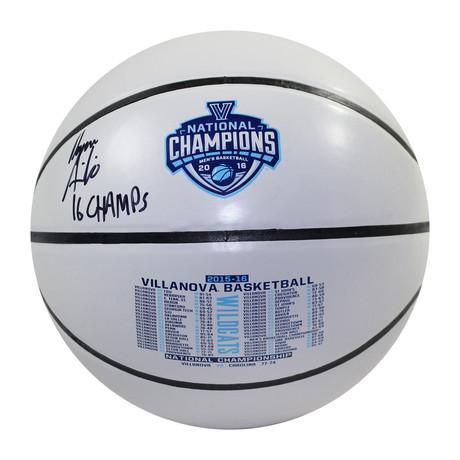 Ryan Arcidiacono // Signed Villanova White Panel Basketball
