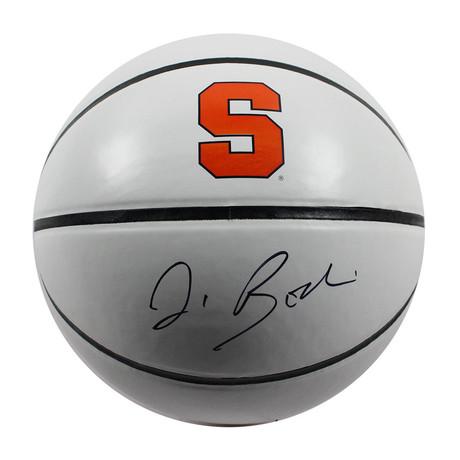 Jim Boeheim // Signed Syracuse Orangeman Jarden White Panel Full Size Basketball