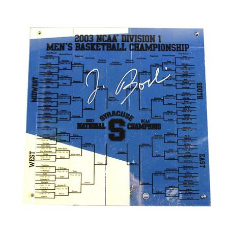Jim Boeheim // Signed Syracuse Basketball + Engraved Bracket Signed in Silver