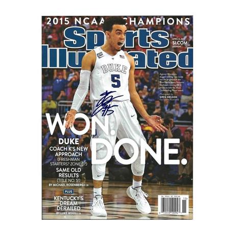 Tyus Jones // Signed Sports Illustrated Magazine