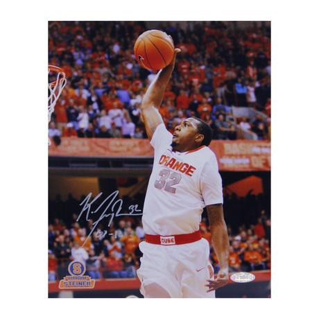 Kris Joseph // Signed Syracuse White Jersey Dunk Photo
