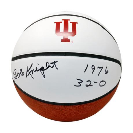 Bob Knight // Signed Indiana University White Panel Basketball