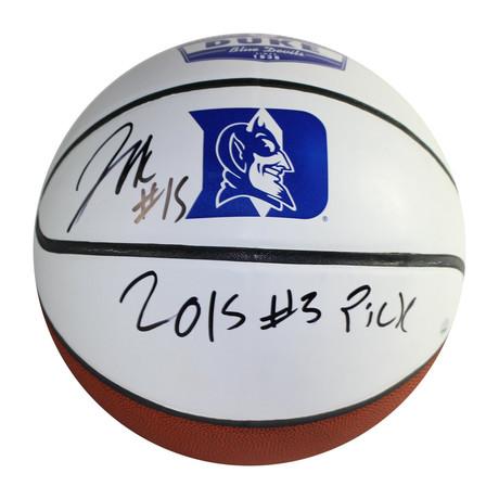 Jahlil Okafor // Signed Duke University White Panel Full Size Basketball