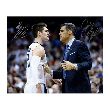 Jay Wright + Ryan Arcidiacono // Signed On Court Photo