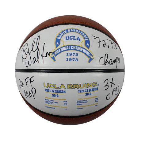 Bill Walton // Signed Full Size White Panel Basketball