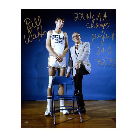 Bill Walton + John Wooden // Signed Photo