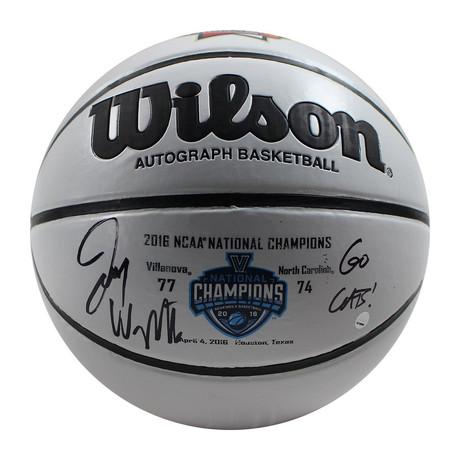 Jay Wright // Signed Wilson Championship White Panel Basketball