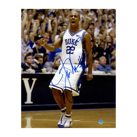 Jay Williams // Signed Duke On Court Photo