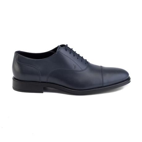 Leather Oxford Dress // Blue (UK 7)