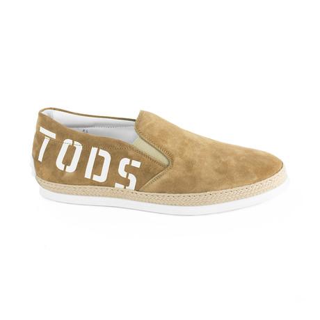Suede Slip-On Sneaker // Brown (UK 5.5)