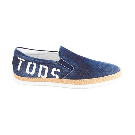 Denim Slip-On Sneaker // Blue (UK 5)