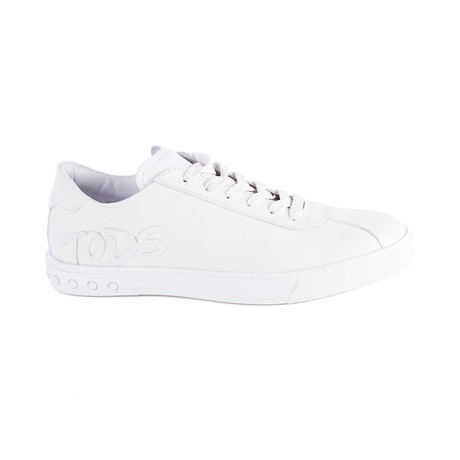Leather Low Top Sneaker // White (UK 7)