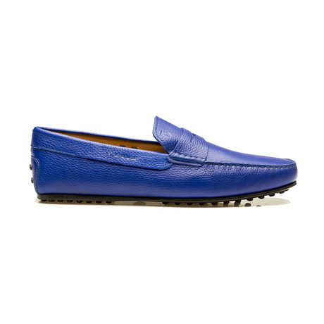 Leather Gommino City Loafer // Blue (UK 6)