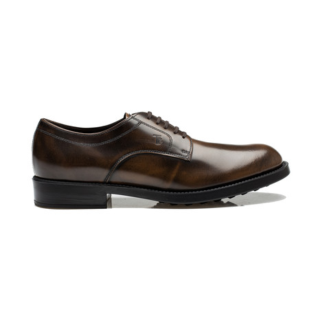 Leather Liscia Esquire Giovane Derby // Brown (UK 6)