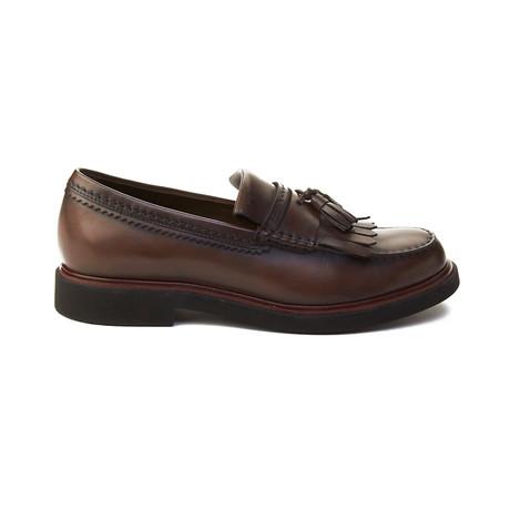 Leather Tassle Loafer // Brown (UK 5)