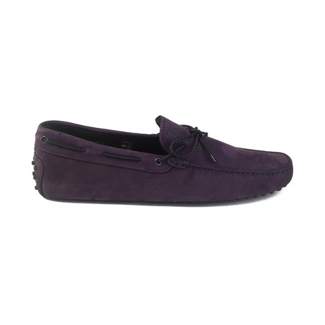 Suede Gommini Driving Loafer // Purple (UK 7)