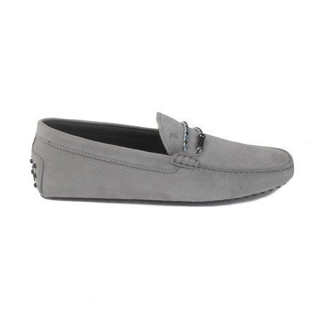 Leather Gommini Driving Loafer // Gray (UK 8)