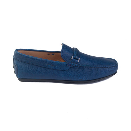 Leather Gommino Penny Loafer // Blue (UK 6)