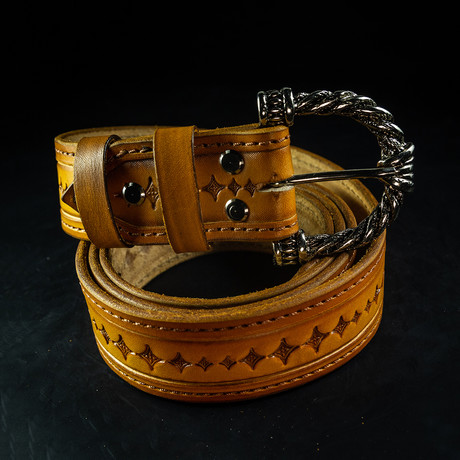 Handcrafted Genuine Leather Belt // 001 // Brown (S)