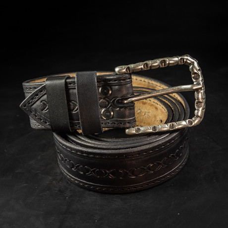Handcrafted Genuine Leather Belt // 005 // Black (S)