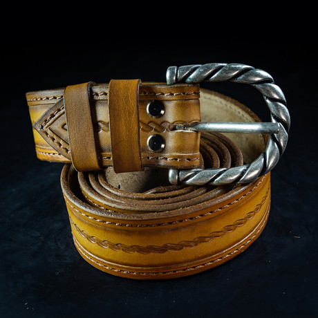 Handcrafted Genuine Leather Belt // 008 // Brown (S)
