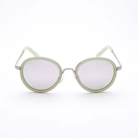 Unisex Round Polarized Sunglasses // Mint