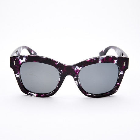Women's Square Polarized Sunglasses // Purple Tortoise