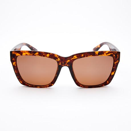 Women's Square Polarized Sunglasses // Taupe Tortoise