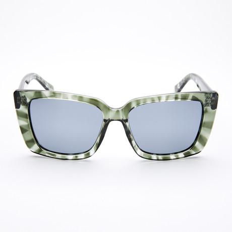Women's Square Polarized Sunglasses // Mint Tortoise + Smoke