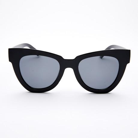 Women's Geometric Polarized Sunglasses // Black