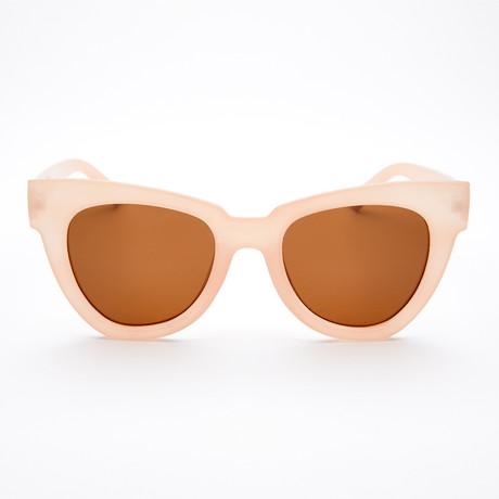 Women's Geometric Polarized Sunglasses // Blush