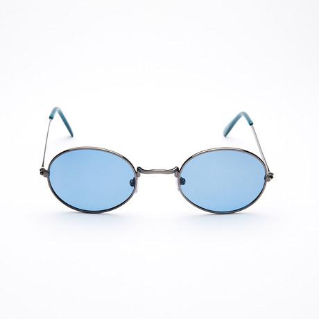 Unisex Oval Polarized Sunglasses // Gunmetal