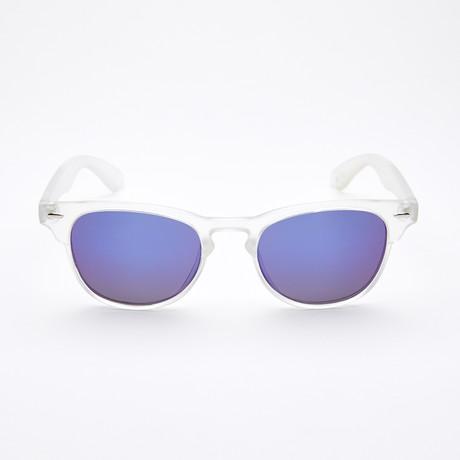 Men's Square II Polarized Sunglasses // Crystal