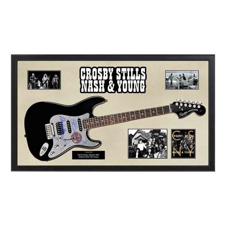 Signed + Framed Guitar // Crosby, Stills, Nash & Young