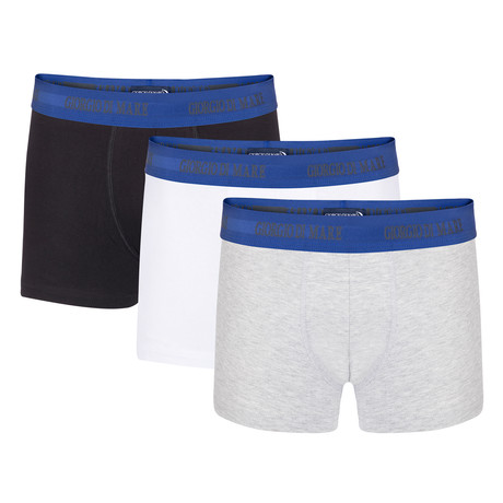 Boxer Short II // Black + White + Grey // Set of 3 (S)