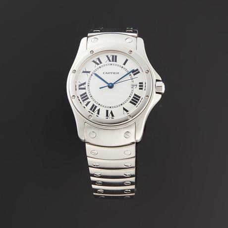 Cartier Round Santos Quartz // CC31873 // Pre-Owned