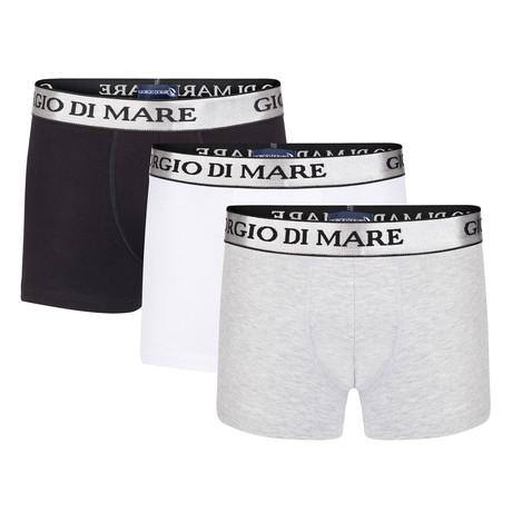 Boxer Short IV // Black + White + Grey // Set of 3 (S)
