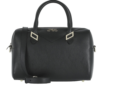 Photo of Versace Collection Women's Designer Handbags Pebbled Leather Medium Top-Handle Bag V2 // Black by Touch Of Modern