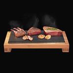 The SteakStones Raised Sharing Steak Plate