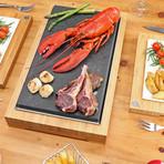 The SteakStones Raised Sharing Steak Plate (Standard)