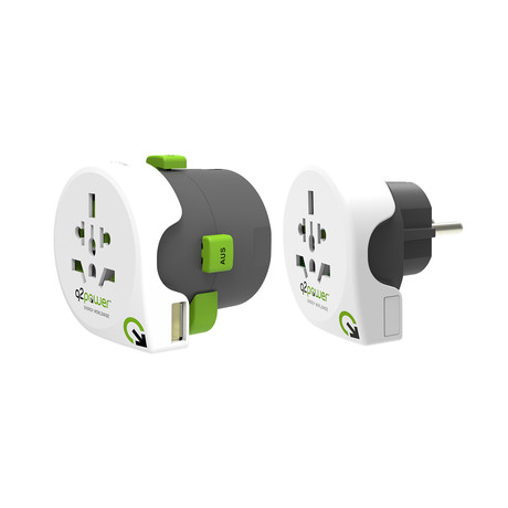 Qdaptor 360 // All-In-One World Travel Adapter + USB Port