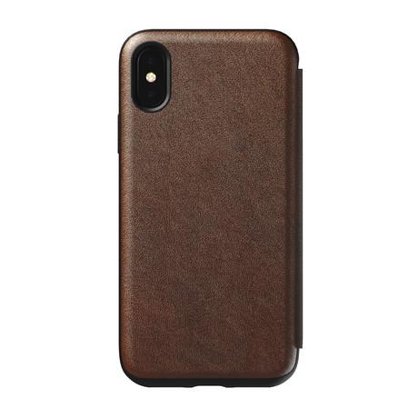 Tri-Folio // Rustic Brown Leather (iPhone XR)