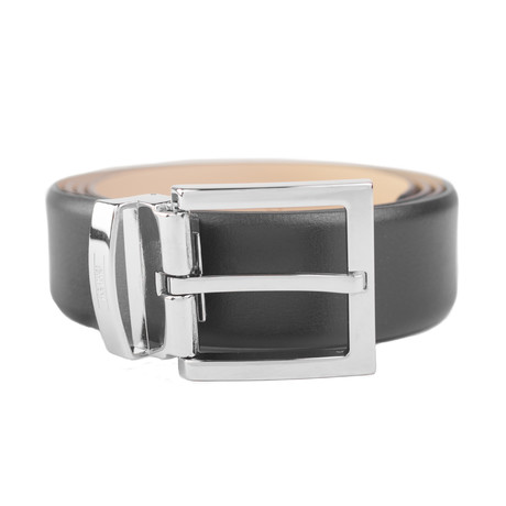 "Armani Collezioni // Leather Belt // Width 1.25"" // Black"