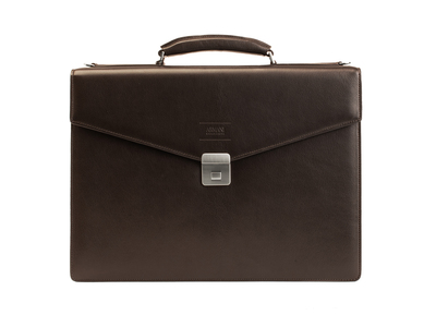 Photo of Armani Designer Leather Briefcases + Belts Leather Briefcase Bag + Shoulder Strap // Hazelnut Brown by Touch Of Modern