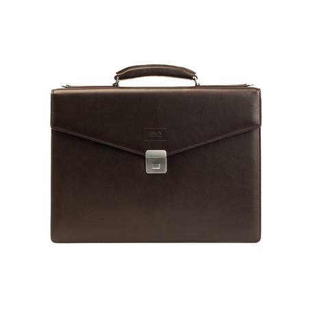 Leather Briefcase Bag + Shoulder Strap // Hazelnut Brown