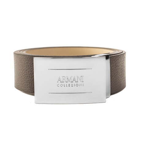 """Grained Leather Belt // Width 1.25"""" // Brown"""