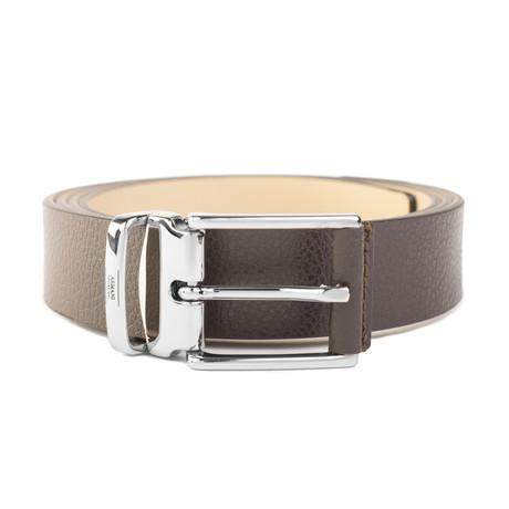 """Grained Leather Belt // Width 1.15"""" // Brown"""