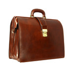 The Firm // Leather Briefcase // Brown