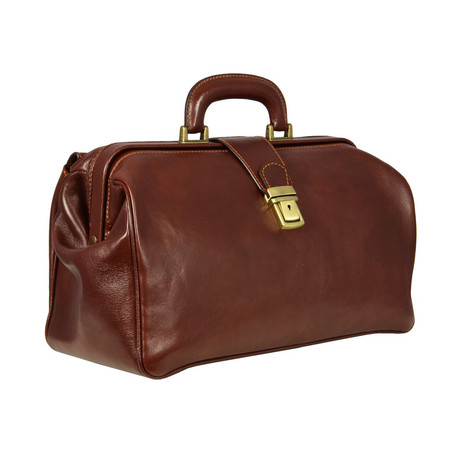 The Pursuit Of Love // Leather Doctor Bag // Brown